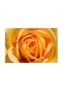 Painel Adesivo De Parede - Rosa Amarela - Flores - 1209Pnm
