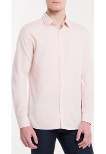 Camisa Slim Monte Carlo Linen Flamê - Rosa Claro - 2