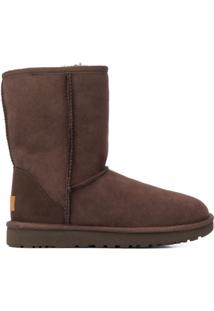 Ugg Ankle Boot Com Forro - Marrom