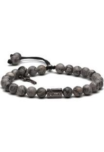 Pulseira Key Design - Lincoln Grey - Masculino-Cinza