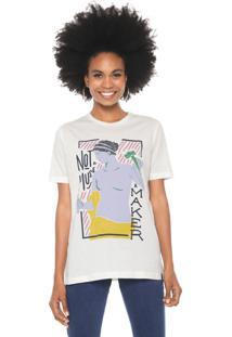 Camiseta Cantão Not A Muse Off-White