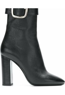 Saint Laurent Ankle Boot De Couro 'Joplin 105' - Preto