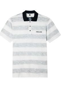 Polo John John Reverse Stripes Malha Listrado Masculina (Listrado, Gg)