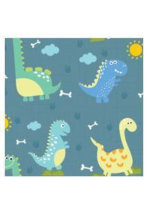 Papel De Parede Adesivo Dinossauro Baby Grande 57X270Cm