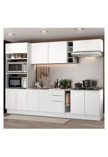 Cozinha Completa Madesa Stella 290001 Com Armário E Balcão Branco Branco