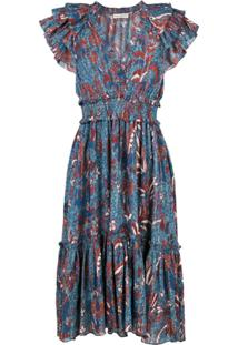Ulla Johnson Vestido Cicely - Azul