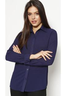 Camisa Lisa - Azul Marinhomoisele