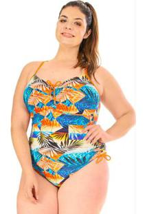 Maiô Regulagem Plus Size Acua Rosa Beach
