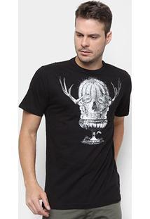 Camiseta Rusty Esp Ac Skullrobe Masculina - Masculino