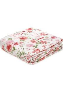 Kit De Colcha Com Porta Travesseiros Casal Andrezza Rosa