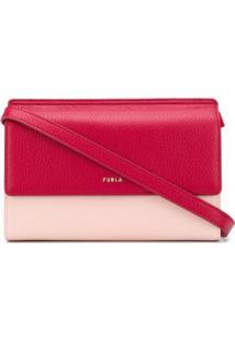 Furla Bolsa Transversal Color Block - Rosa