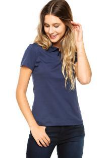 ... Camisa Polo Manga Curta Malwee Botões Azul-Marinho e17b0745cf39d