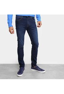 Calça Jeans Calvin Klein Five Pockets Skinny Masculina - Masculino-Marinho
