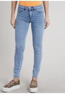 Calça Jeans Feminina Skinny Energy Jeans Azul Médio