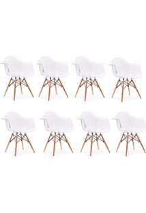 Cadeira Império Brazil Cadeira Charles Eames Wood Com Braço Policarbonato Transparente