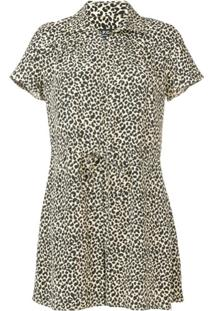 A.P.C. Macacão Animal Print - Neutro