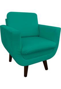 Poltrona Decorativa Athenas Suede Verde Tiffany D'Rossi