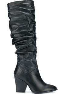 Stuart Weitzman Bota Altura Do Joelho 'The Smashing' - Preto