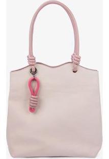 Bolsa Shopping Bag Soleah Alhambra Feminina - Feminino-Rosa