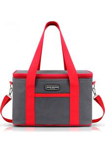 Bolsa Térmica Média Jacki Design Semi Rígida Vermelha - Kanui