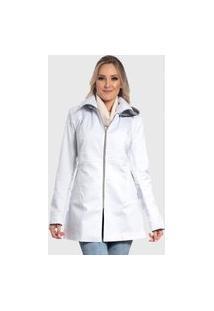 Jaqueta De Sarja Longo Branco