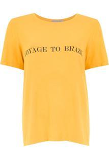 Alcaçuz Blusa 'Foster' Com Estampa - Amarelo