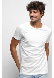 Camiseta Acostamento Básica Manga Curta Masculina - Masculino-Branco