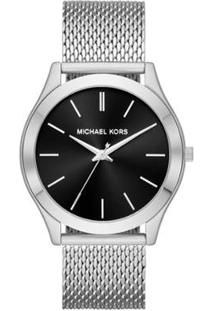 Relógio Michael Kors Essential Slim Runway Feminino - Feminino-Prata