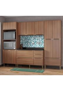 Cozinha Completa 5 Módulos 13 Portas Calábria Multimóveis Nogueira