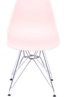 Cadeira Eames Dkr- Salmã£O & Prateada- 80,5X46,5X42Cmor Design