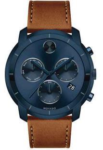 Relógio Movado Masculino Couro Marrom - 3600476