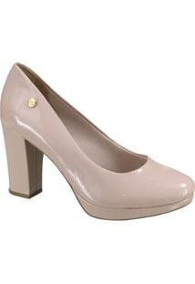 Sapato Meia Pata Via Marte Feminino - Feminino-Bege