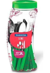 Faqueiro Inox 24 Peças Leme Verde - Tramontina - Verde