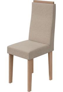 Cadeira Dafne Linho Rinzai Bege Carvalho Naturale