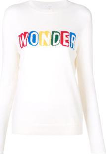 Chinti & Parker Suéter Mangas Longas Com Slogan - Branco