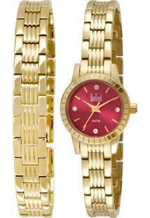 Relógio Dumont Analógico Du2035Lnr/4X Dourado