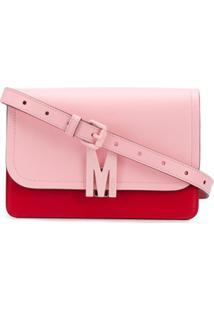Moschino Bolsa Transversal Com Placa De Logo - Vermelho