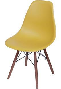 Cadeira Eames Polipropileno Acafrao Fosco Base Escura - 49343 - Sun House