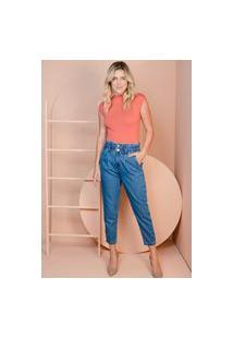 Calça Sisal Jeans Mom Azul