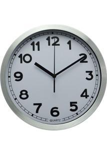 Relógio De Parede Le Alumínio 25,2Cm Branco