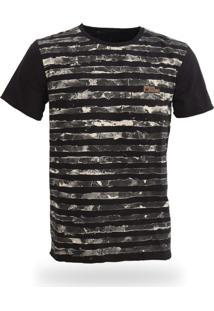 Camiseta Royal Brand Stripes Preto