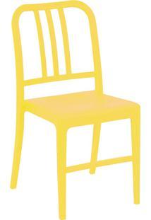 Cadeira Com Pés Fixos Retrô 1138-Or Design - Amarelo