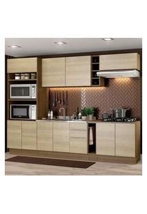 Cozinha Completa Madesa Stella 290001 Com Armário E Balcão Rustic/Saara Cor:Rustic/Saara