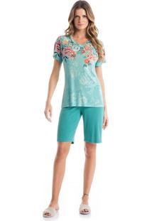 Pijama Maria C/ Bermuda - O524 Verde Jade/P