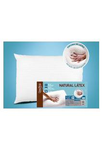 Travesseiro De Látex Baixo - Capa 100% Algodáo 200 Fios - 50 X 70 Cm - Duoflex