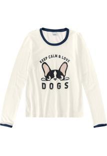 Blusa Dogs Essence Malwee