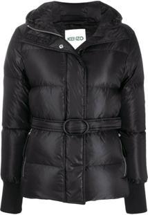 Kenzo Belted Padded Coat - Preto