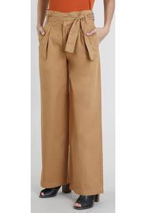Calça Feminina Pantalona Clochard Caramelo