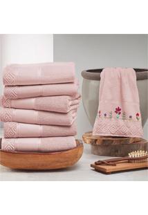 Toalha De Banho Teka - Coleã§Ã£O Provence - Rosa Claro #683 - Multicolorido - Dafiti