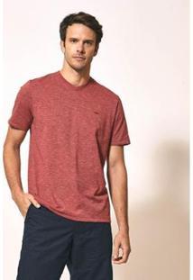 Camiseta Aviator Gola V Básica Masculina - Masculino-Vermelho